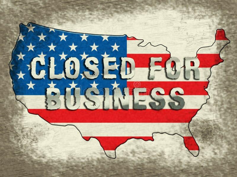 Κυβερνητικός Χάρτης Κλειστός Για Τον Επιχειρηματικό Χάρτη Για Τους Ομοσπονδιακούς Εργαζόμενους - Απεικόνιση 3d διανυσματική απεικόνιση