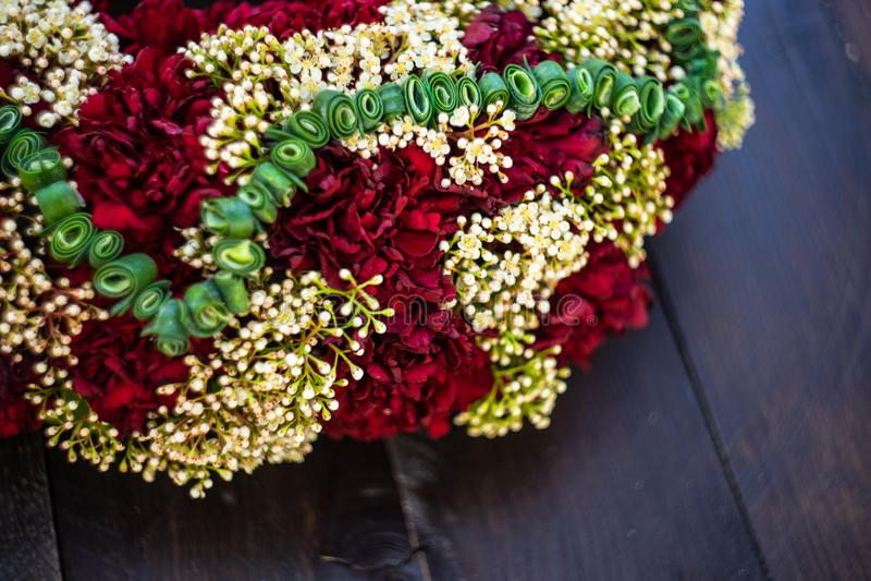 κυκλίσκος των λουλουδιών γαρίφαλων στοκ εικόνες