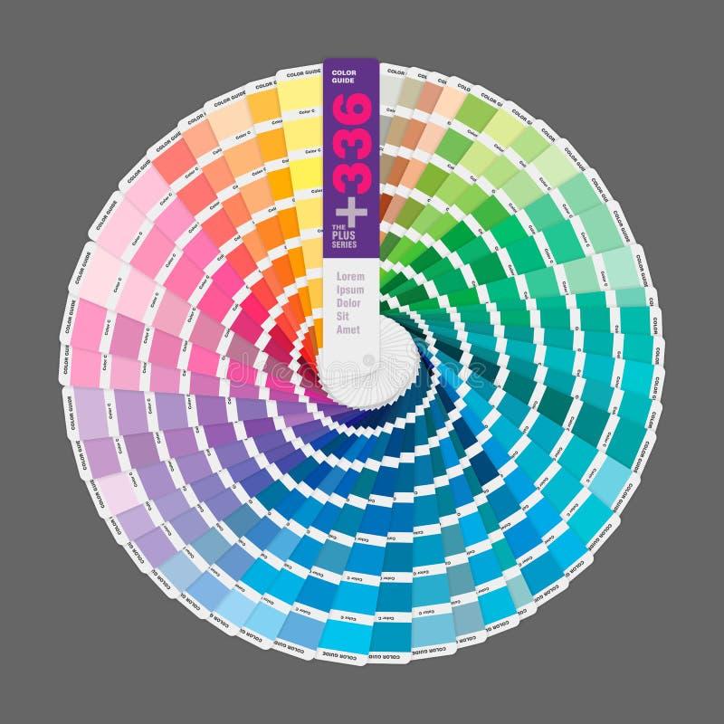 Κυκλική απεικόνιση του οδηγού παλετών χρώματος για την τυπωμένη ύλη, οδηγός BO ελεύθερη απεικόνιση δικαιώματος