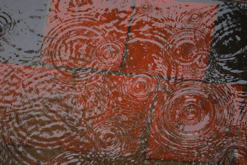 Κυκλικοί κυματισμοί στο νερό στοκ εικόνες με δικαίωμα ελεύθερης χρήσης