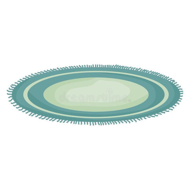 Κυκλικός τάπητας για το καθιστικό απεικόνιση αποθεμάτων