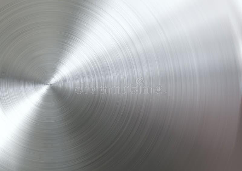 Κυκλικό βουρτσισμένο μέταλλο διανυσματική απεικόνιση