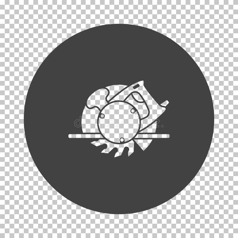 Κυκλικό εικονίδιο πριονιών ελεύθερη απεικόνιση δικαιώματος