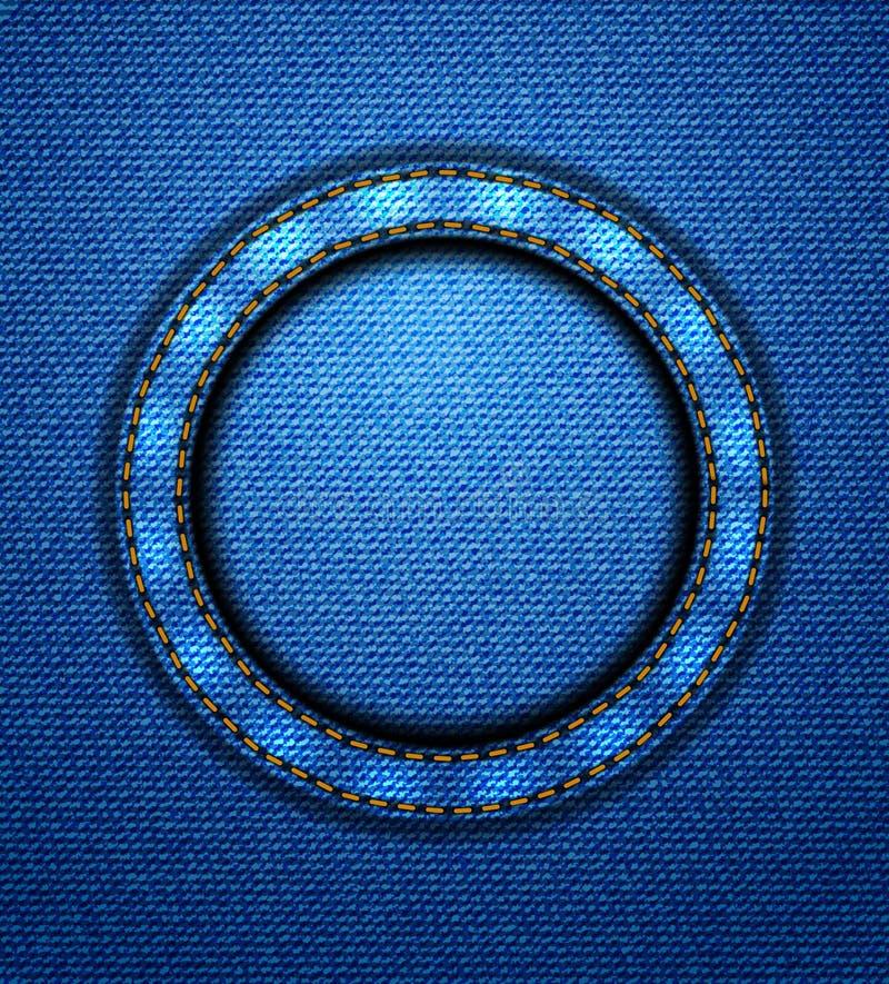 Κυκλικό μπάλωμα τζιν διανυσματική απεικόνιση