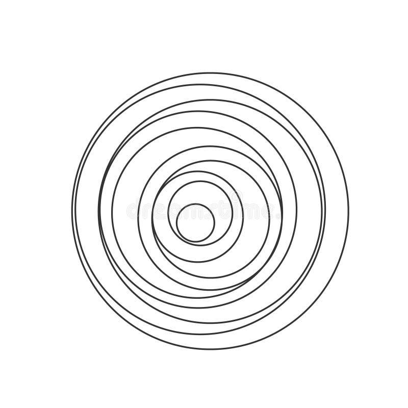 Κυκλικό σπειροειδές υγιές κύμα διανυσματική απεικόνιση