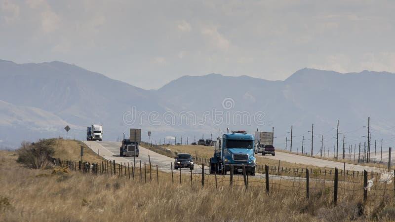 Κυκλοφορία εθνικών οδών στη Γιούτα στοκ φωτογραφία
