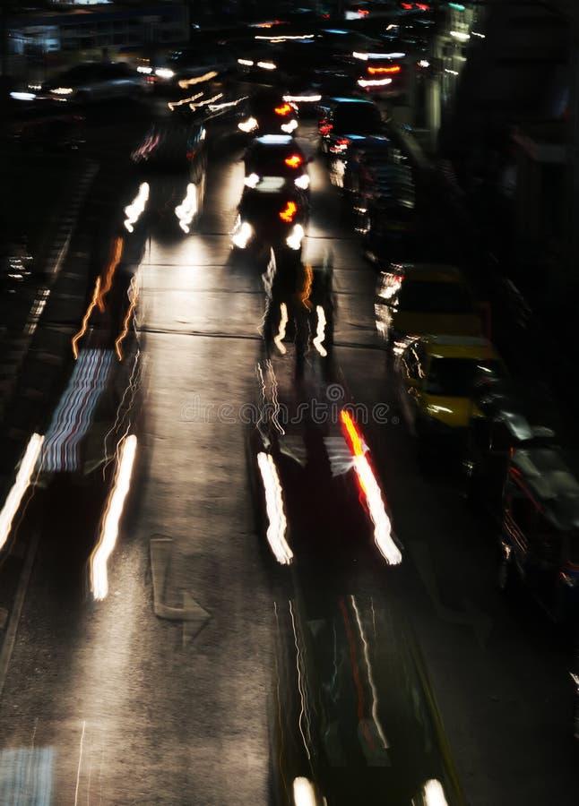Κυκλοφορία νύχτας. στοκ φωτογραφίες με δικαίωμα ελεύθερης χρήσης