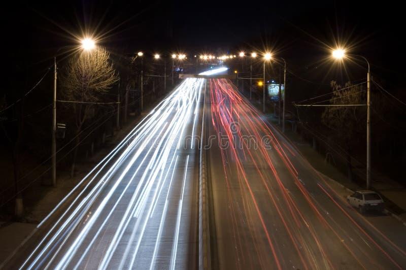 Κυκλοφορία νύχτας στοκ φωτογραφίες