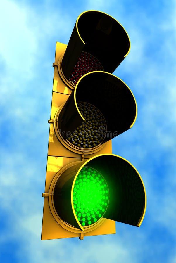 κυκλοφορία ουρανού πράσινου φωτός ανασκόπησης ελεύθερη απεικόνιση δικαιώματος