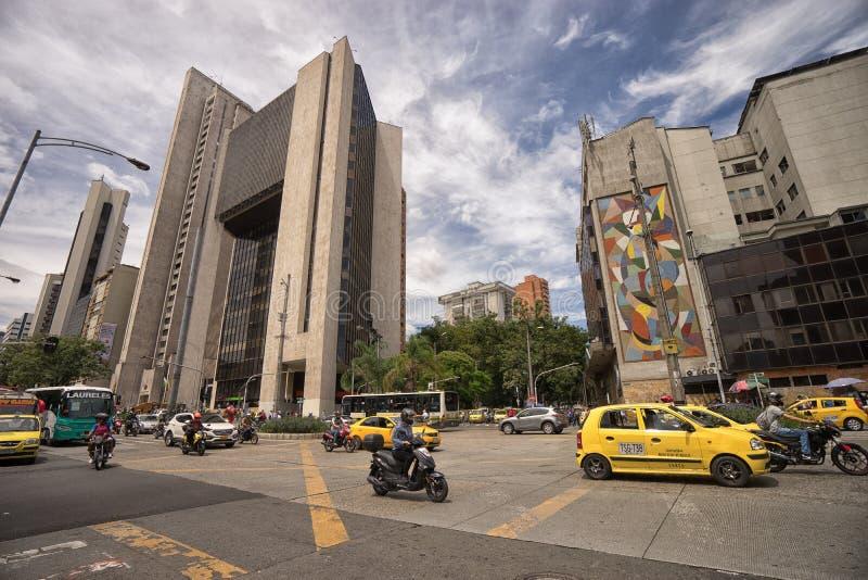 κυκλοφορία οχημάτων σε Medellin Κολομβία στοκ φωτογραφίες