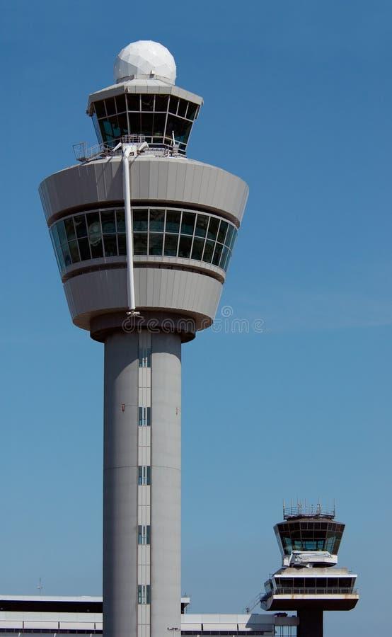 κυκλοφορία πυργων ελέγχου του Άμστερνταμ αέρα στοκ εικόνα