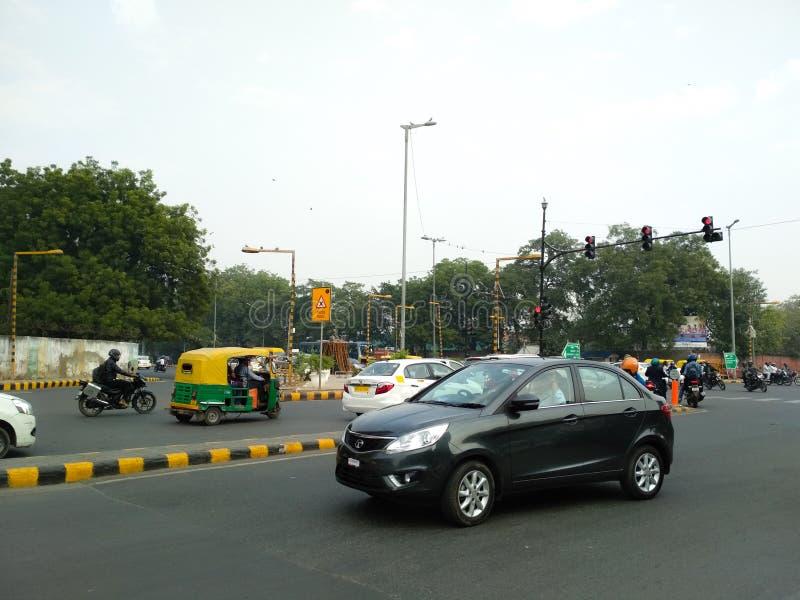 Κυκλοφορία στην εθνική οδό στοκ εικόνες