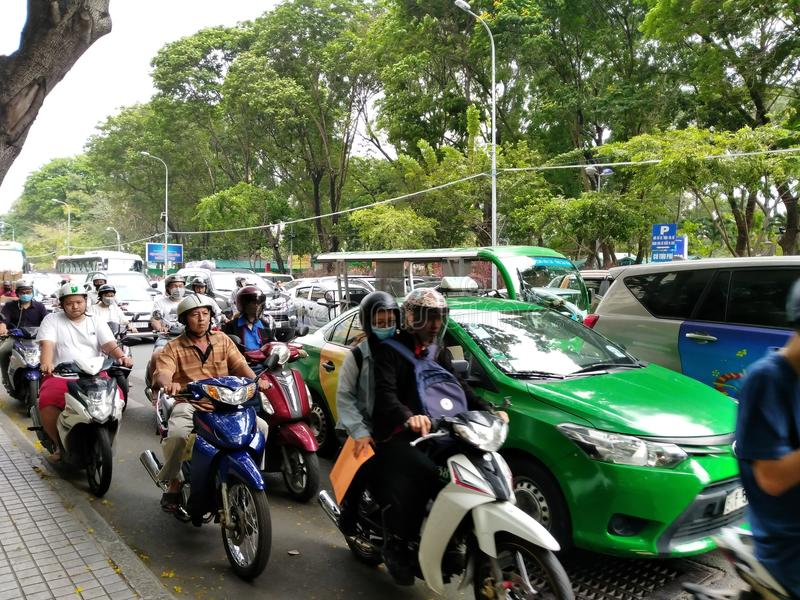 κυκλοφορία στο Ho Chi Minh Βιετνάμ στοκ εικόνα