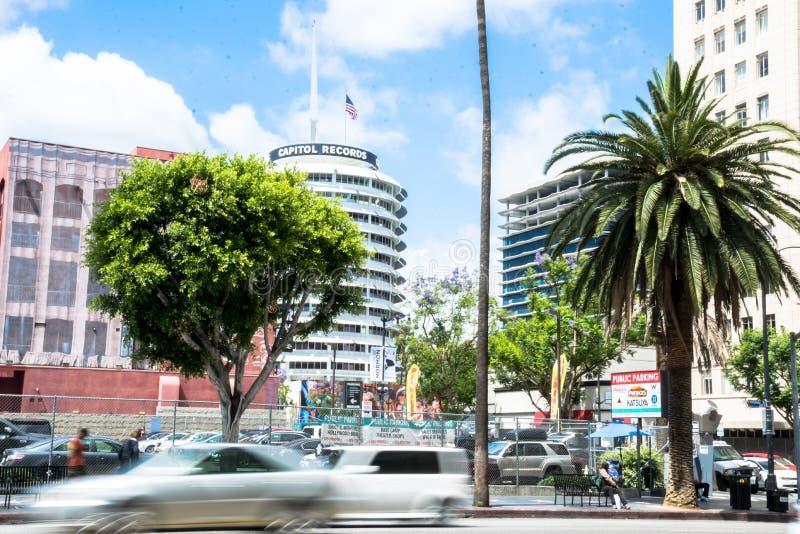 Κυκλοφορία τουριστών στη λεωφόρο Hollywood Τουριστικό αξιοθέατο του Λος Άντζελες στην ημέρα E στοκ εικόνες με δικαίωμα ελεύθερης χρήσης