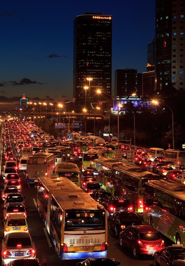 Κυκλοφοριακή συμφόρηση στο Πεκίνο στοκ εικόνα με δικαίωμα ελεύθερης χρήσης