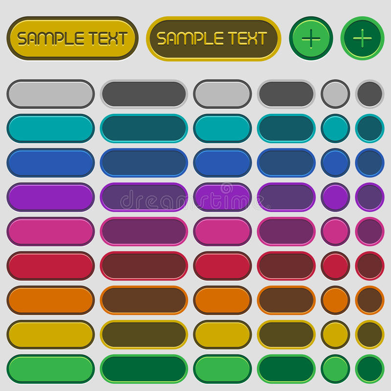 Κυκλικά κουμπιά Ιστού διανυσματική απεικόνιση