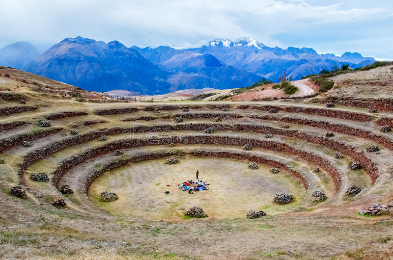 Κυκλικά πεζούλια του Περού στοκ φωτογραφίες με δικαίωμα ελεύθερης χρήσης
