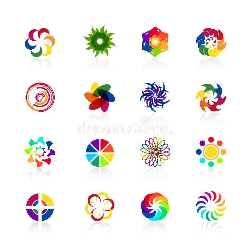 Κυκλικές μορφές λογότυπων ελεύθερη απεικόνιση δικαιώματος