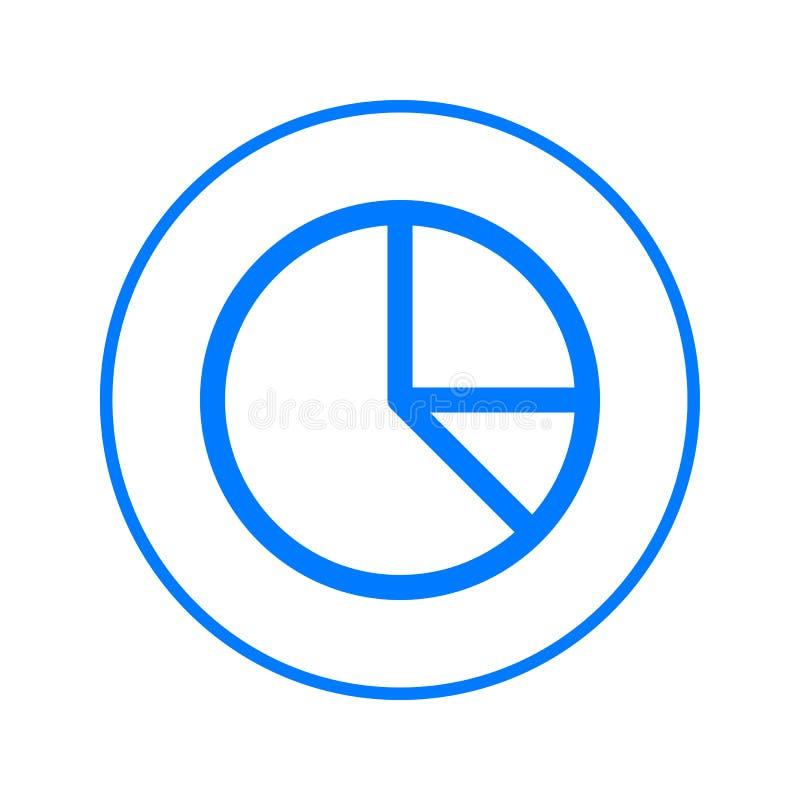 Κυκλικό εικονίδιο γραμμών διαγραμμάτων πιτών Στρογγυλό ζωηρόχρωμο σημάδι Επίπεδο διανυσματικό σύμβολο ύφους απεικόνιση αποθεμάτων