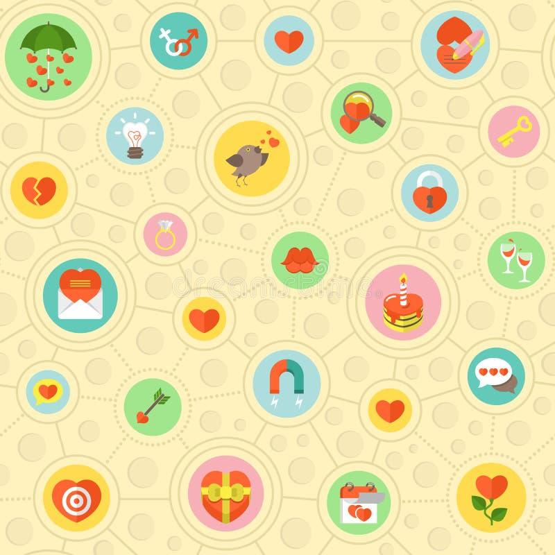 Κυκλικό σχέδιο αγάπης ελεύθερη απεικόνιση δικαιώματος