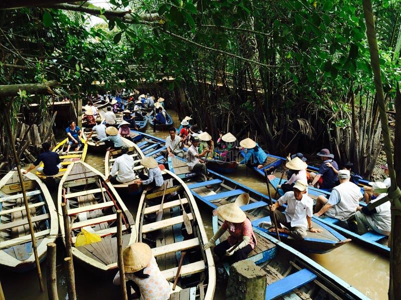 Κυκλοφορία βαρκών του Βιετνάμ στοκ εικόνα