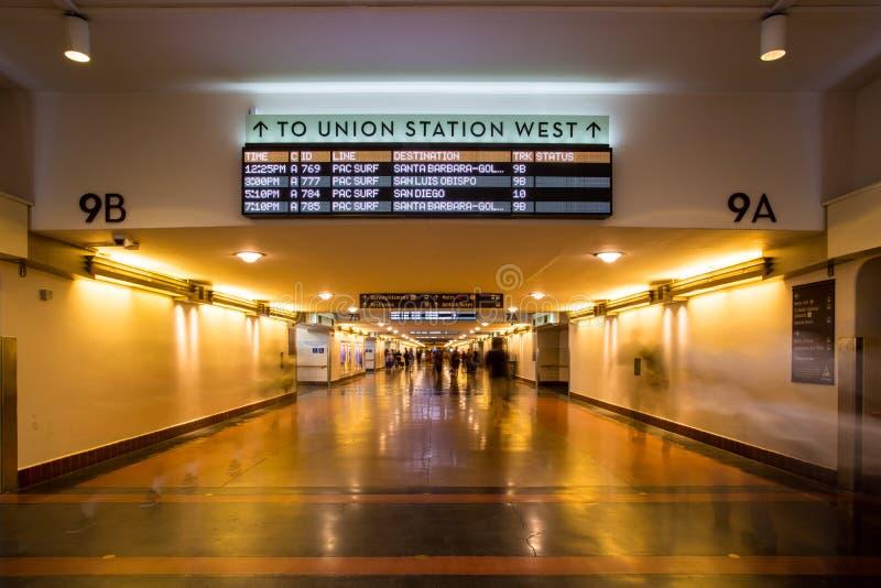 Κυκλοφορία ποδιών σταθμών ένωσης του Λος Άντζελες στοκ φωτογραφίες