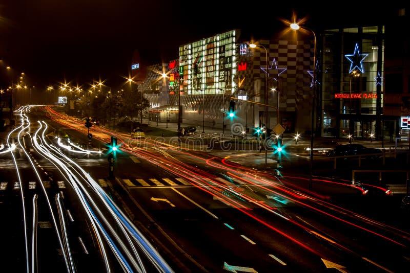 Κυκλοφορία πόλεων νύχτας στοκ φωτογραφίες με δικαίωμα ελεύθερης χρήσης