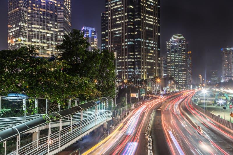 Κυκλοφορία στην Τζακάρτα, πρωτεύουσα της Ινδονησίας στοκ φωτογραφίες