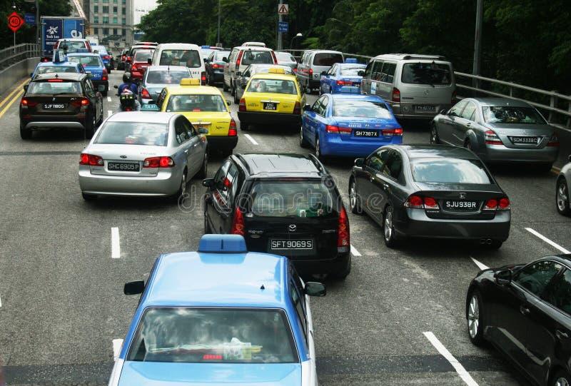 Κυκλοφορία της Σιγκαπούρης στοκ φωτογραφία