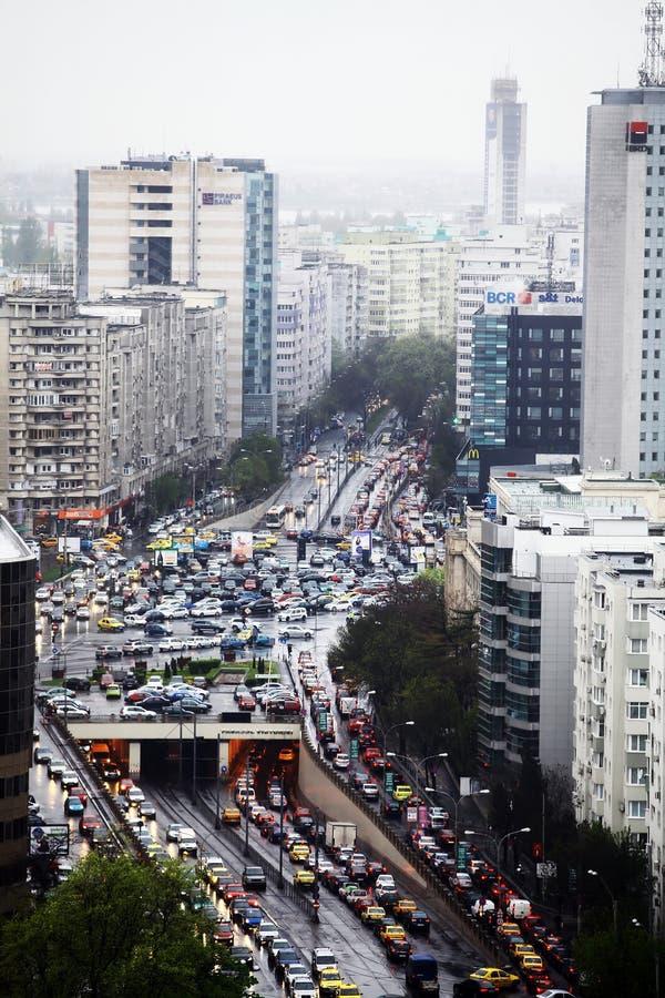 Κυκλοφοριακή συμφόρηση στο Βουκουρέστι στοκ φωτογραφίες με δικαίωμα ελεύθερης χρήσης