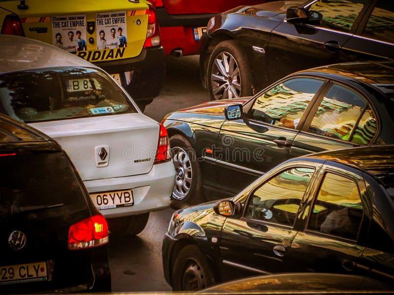 Κυκλοφοριακή συμφόρηση στοκ φωτογραφία