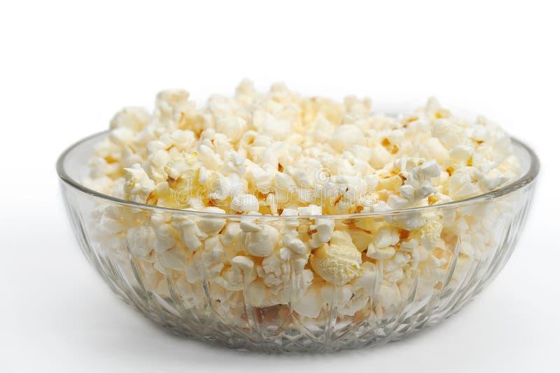 κυλήστε popcorn γυαλιού στοκ φωτογραφίες