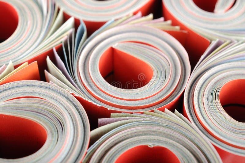 Κυλημένο περιοδικό στοκ φωτογραφία με δικαίωμα ελεύθερης χρήσης