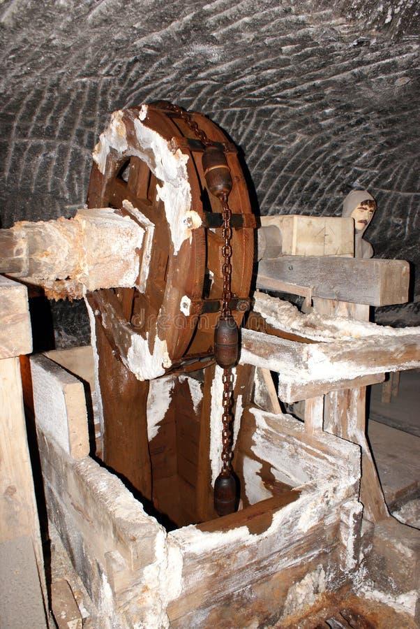 Κυλώντας μύλος σε ένα αλατισμένο ορυχείο στοκ φωτογραφίες με δικαίωμα ελεύθερης χρήσης