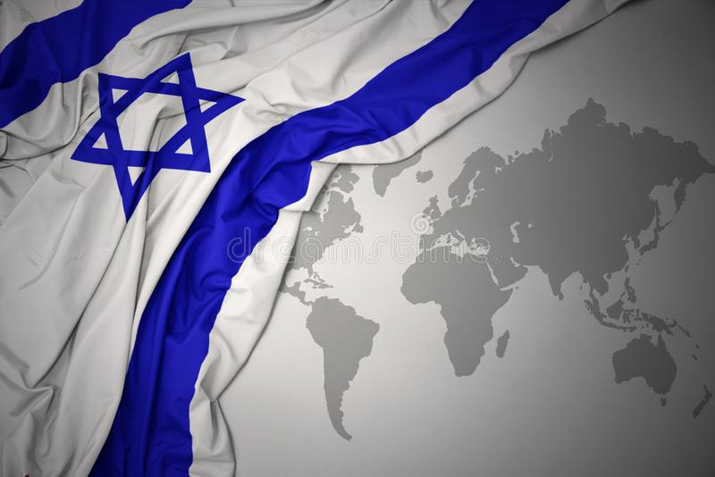 Κυματίζοντας ζωηρόχρωμη εθνική σημαία διανυσματική απεικόνιση