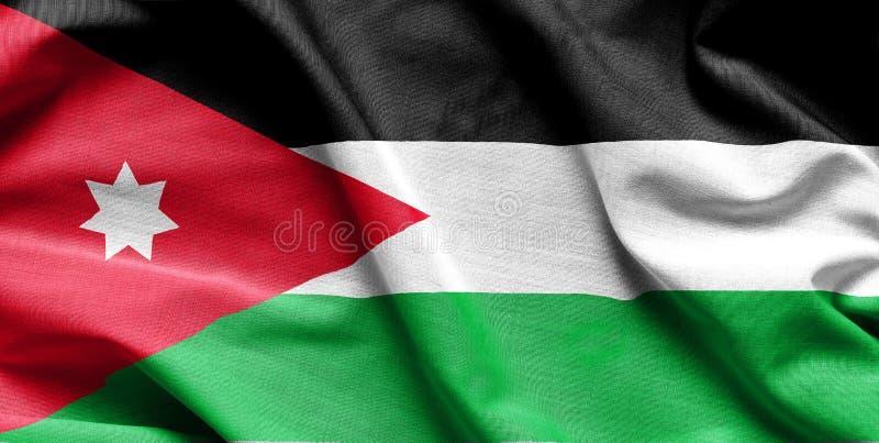 Κυματίζοντας σημαία της Ιορδανίας στοκ φωτογραφίες