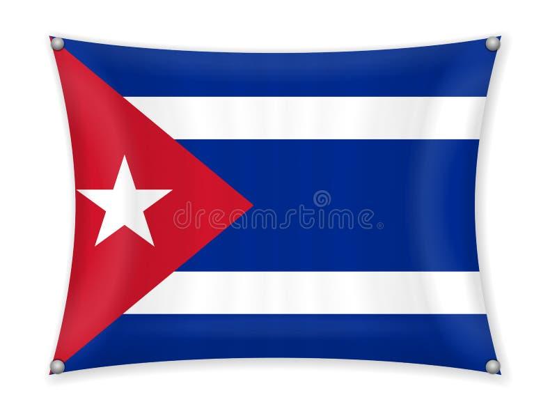Κυματίζοντας σημαία της Κούβας απεικόνιση αποθεμάτων