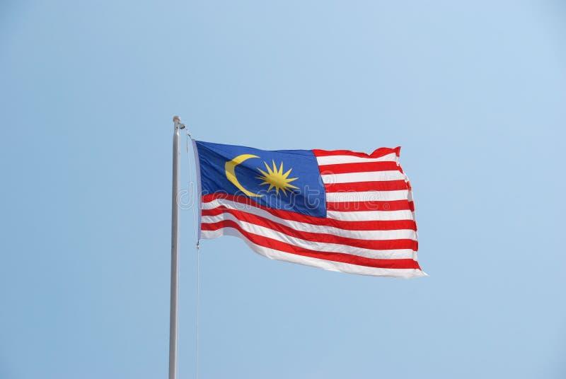 Κυματίζοντας σημαία της Μαλαισίας στοκ φωτογραφία με δικαίωμα ελεύθερης χρήσης