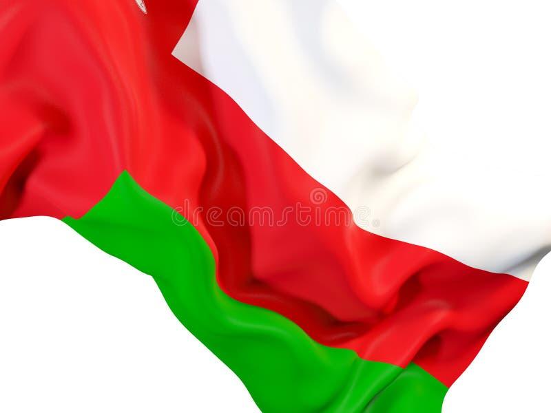 Κυματίζοντας σημαία του Ομάν διανυσματική απεικόνιση