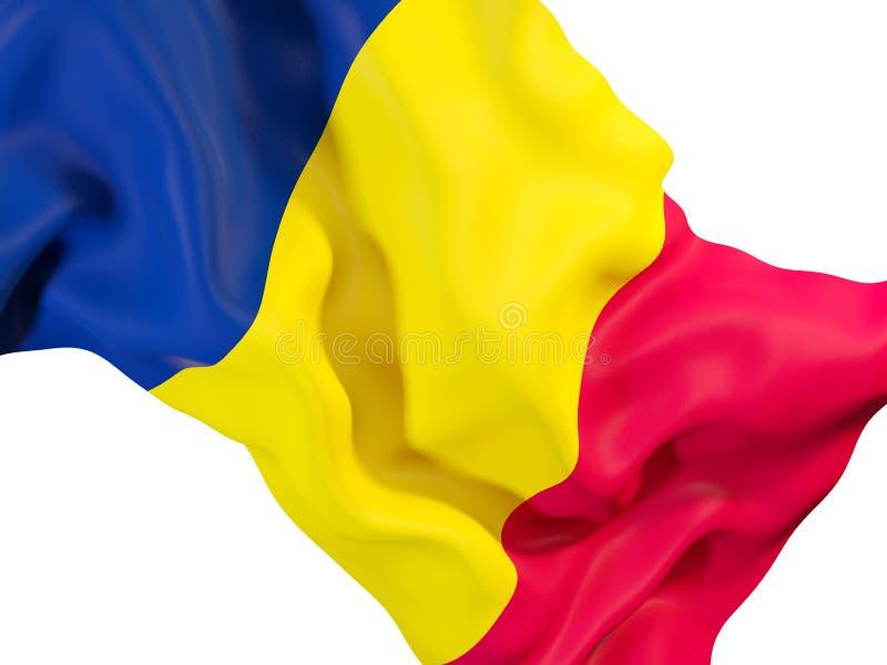 Κυματίζοντας σημαία του Τσαντ απεικόνιση αποθεμάτων