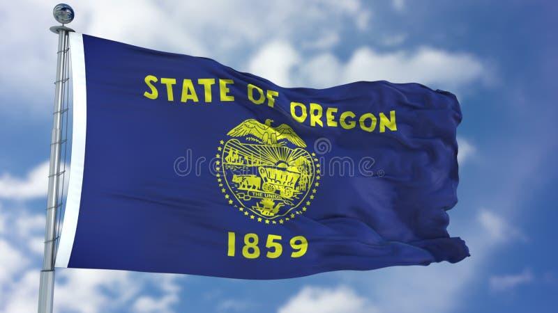 Κυματίζοντας σημαία του Όρεγκον στοκ εικόνα με δικαίωμα ελεύθερης χρήσης
