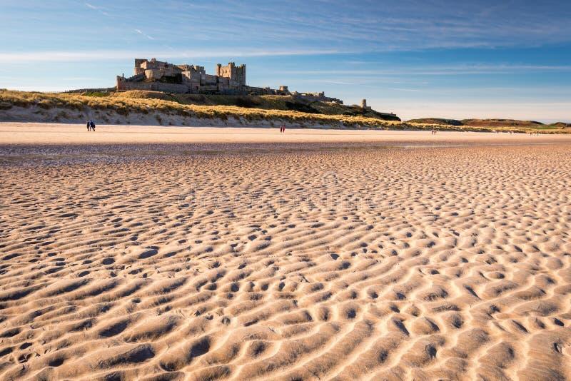 Κυματισμοί στην άμμο στην παραλία Bamburgh στοκ εικόνες με δικαίωμα ελεύθερης χρήσης
