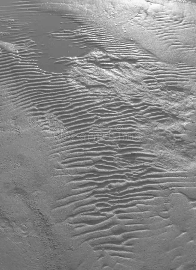 Κυματισμοί στην υγρή σύσταση υποβάθρου άμμου στοκ φωτογραφίες με δικαίωμα ελεύθερης χρήσης