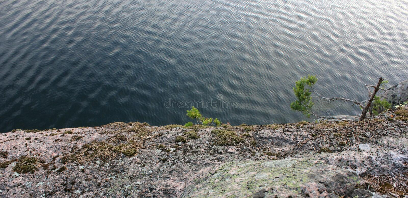 Κυματισμοί στο νερό λιμνών στοκ φωτογραφίες
