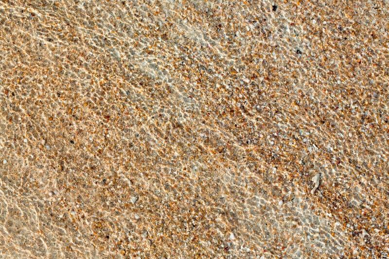 Κυματισμοί στο νερό στην αμμώδη ακτή στοκ φωτογραφίες με δικαίωμα ελεύθερης χρήσης
