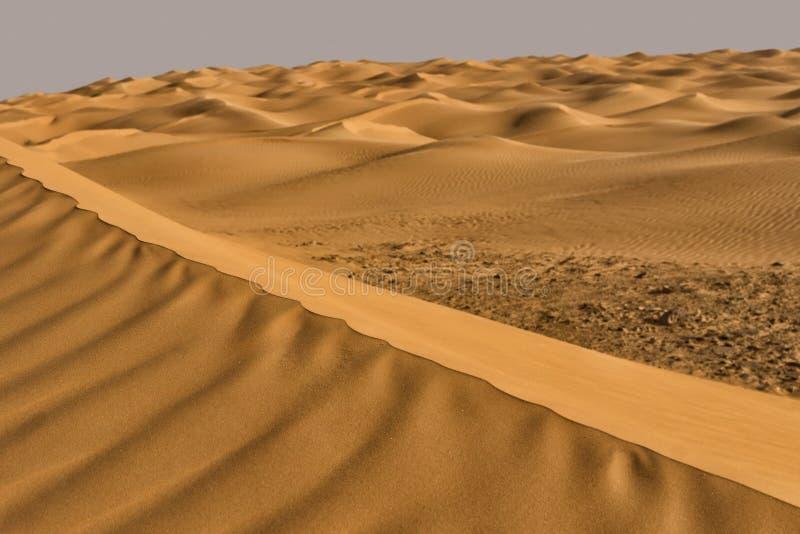 Κυματισμοί της ερήμου Σαχάρας στην Τυνησία στοκ φωτογραφία