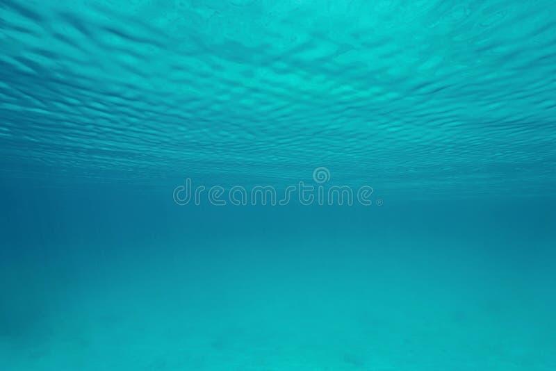 Κυματισμοί της υποβρύχιας φυσικής σκηνής επιφάνειας νερού στοκ φωτογραφία με δικαίωμα ελεύθερης χρήσης
