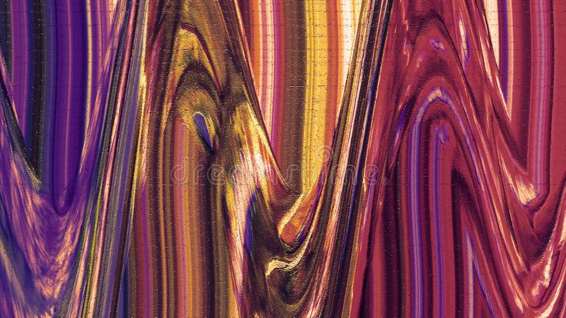 Κυματιστά κτυπήματα χρώματος Σύσταση κτυπήματος βουρτσών χρωμάτων & μελανιού Grunge Παφλασμός νερού σε χαρτί στοκ φωτογραφίες με δικαίωμα ελεύθερης χρήσης