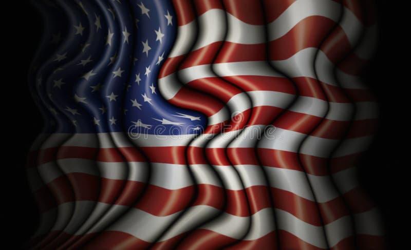 Κυματιστή Ηνωμένη σημαία ελεύθερη απεικόνιση δικαιώματος