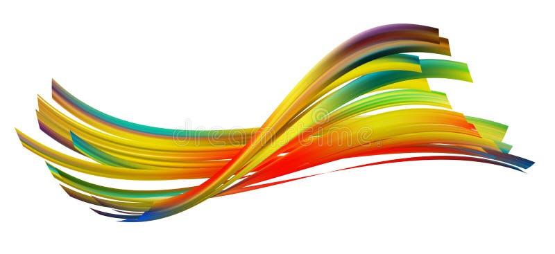 Κυματιστή πολύχρωμη επιφάνεια υφής ταινία στρέβλωσης ελεύθερη απεικόνιση δικαιώματος
